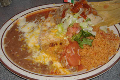 Avila's El Ranchito/Corona del Mar - Chile Relleno/Pork Tamale