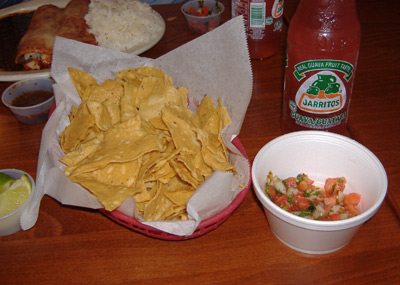 Baja Fish Tacos Chips and Salsa