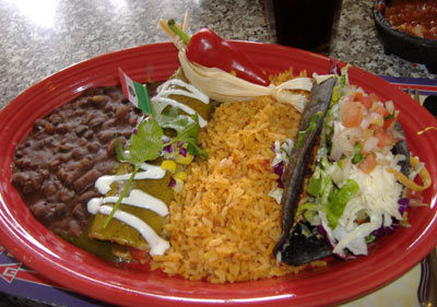 Blue Agave Taco and Enchilada Combo