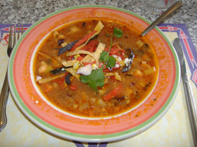 Blue Agave Chicken Tortilla Soup