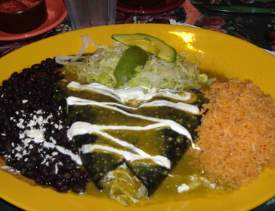 Cafe El Cholo - Blue Corn Enchiladas