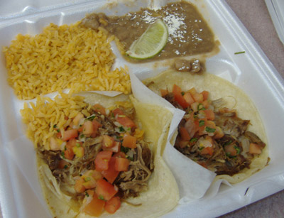 Cancun Fresh Mexican Grill - Carnitas Tacos To Go