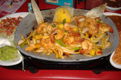 Chevys - Tequila-Lime Shrimp Fajitas