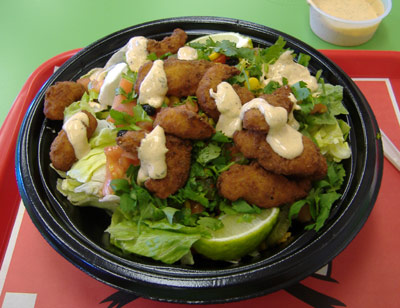 Del Taco Chipotle Shrimp Salad
