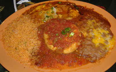 El Cholo Cantina - Chile Relleno/Chicken Enchilada