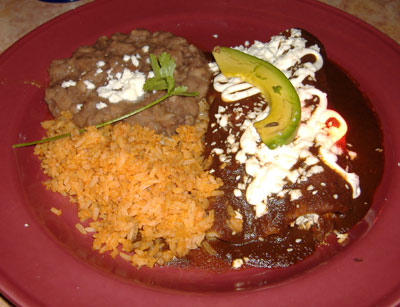 Gabbi's Mexican Kitchen - Mole Enchiladas
