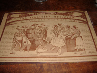 Gabbi's Mexican Kitchen - Day of the Dead Placemat