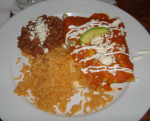 Gabbi's Mexican Kitchen Enchilada Flor de Calabaza