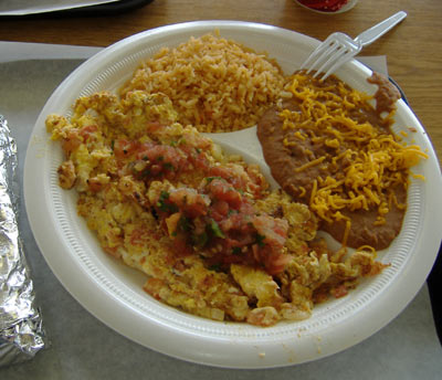 Hank's Mexican Food - Huevos a la Mexicana