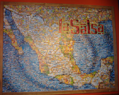 La Salsa - Mosaic Map