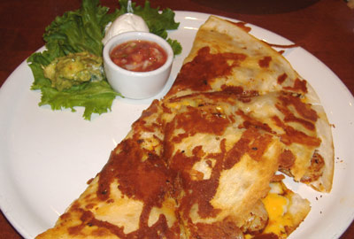 Lazy Dog Cafe - Inside-Out Quesadilla