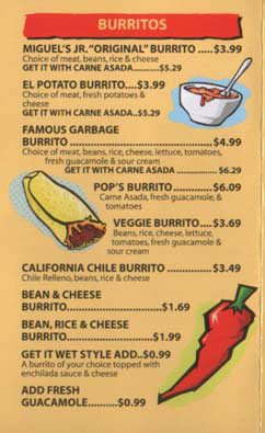 Miguel's Jr. Menu - Page 1
