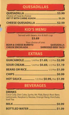 Miguel's Jr. Menu - Page 3