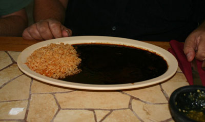 El Moctezuma #3 - Rice and Mole Sauce