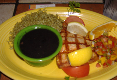 Rose Canyon Cantina and Grill - Salmon Platter
