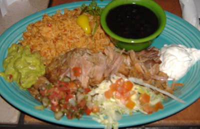 Rose Canyon Cantina and Grill - Carnitas Plate