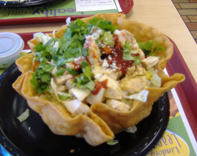 El Pollo Loco's BBQ Ranch Chicken Tostada Salad