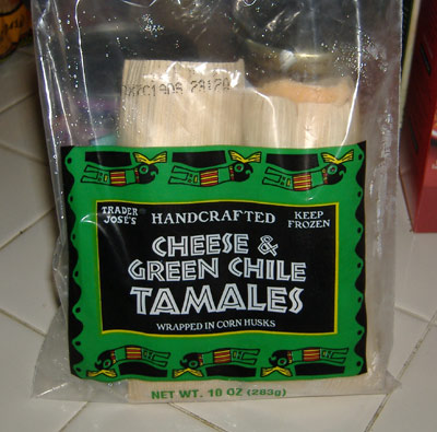Trader Joe's - Cheese and Green Chile Tamales