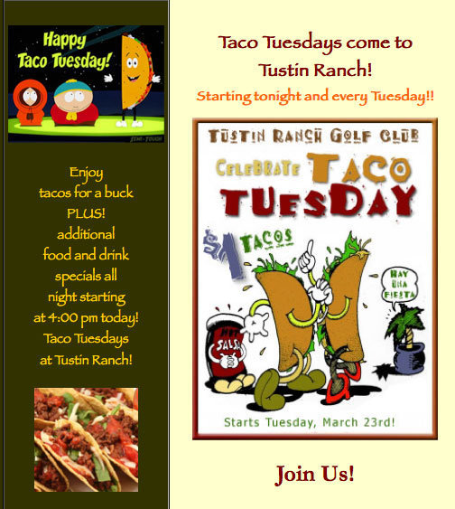 Tustin Ranch Golf Taco Tuesday